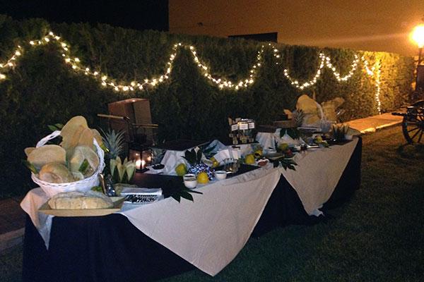 mesa aperitivo salones celebraciones sevilla