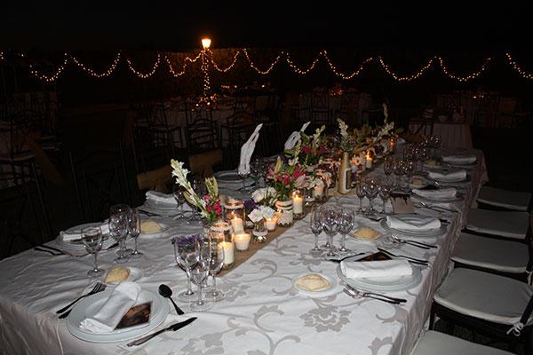 mesa velas salones celebraciones sevilla